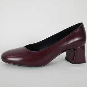 Geox Burgundy Leather Heels Size 5